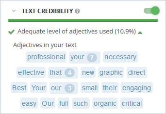 Content SEO Text Credibility