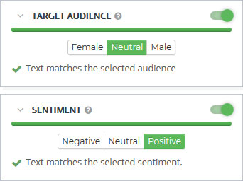 Content SEO Target Audience Sentiment